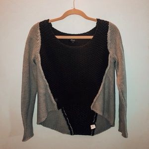NastyGal Light Blue & Black Sweater